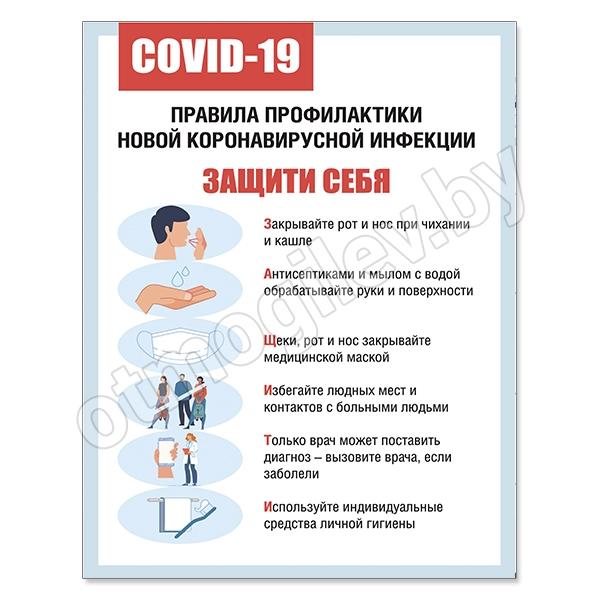 Стенд «Правила профилактики новой коронавирусной инфекции»