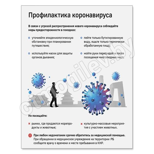 Стенд «Профилактика коронавируса»